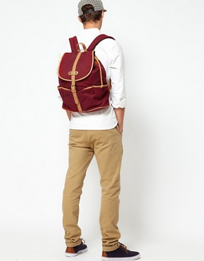 Image 3 ofASOS Canvas Backpack With Contrast Straps