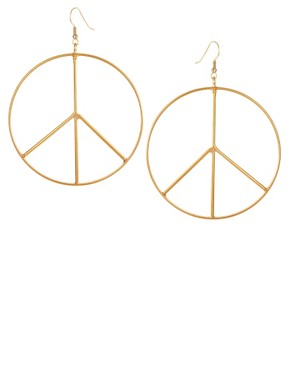 Image 1 ofGogo Philip Oversized Peace Drop Earrings