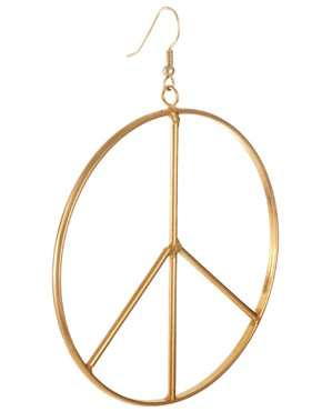 Image 3 ofGogo Philip Oversized Peace Drop Earrings