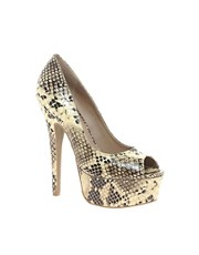 Zigi Soho Faux Snake Print Heeled Shoe