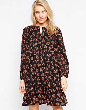 Ivana Helsinki Chiffon Dress In Floral Print