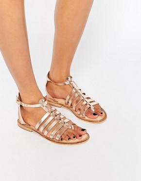 Warehouse Metallic Gladiator Sandals
