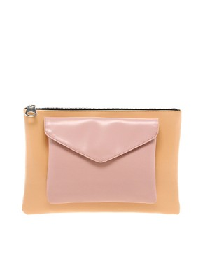 ASOS Clutch Bag With Removable Front Pocket at ASOS :  spring fashion clutch bag