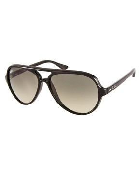 Image 1 ofRay-Ban Black Plastic Aviator Sunglasses