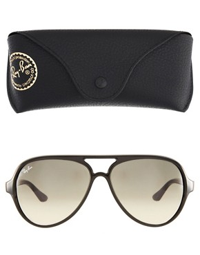 Image 2 ofRay-Ban Black Plastic Aviator Sunglasses