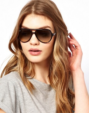 Image 3 ofRay-Ban Black Plastic Aviator Sunglasses
