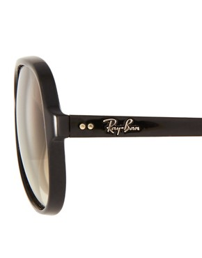 Image 4 ofRay-Ban Black Plastic Aviator Sunglasses