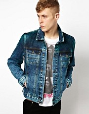 ASOS Denim Jacket With Dip Dye