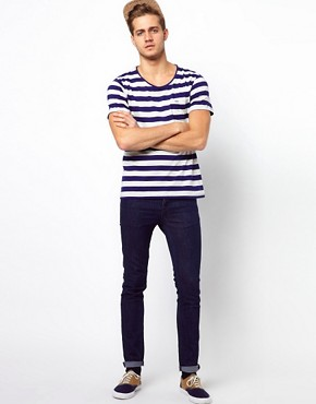 Image 4 ofSelected Stripe T-Shirt