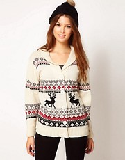 Pretty Vacant Reindeer Cardigan