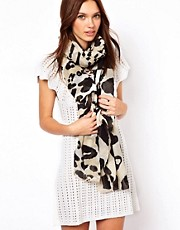 Warehouse Oversized Animal Scarf