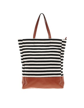 Image 1 ofPieces Earla Stripe Shopper