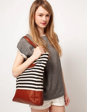 Image 3 ofPieces Earla Stripe Shopper