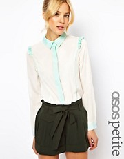 ASOS PETITE Exclusive Shirt With Contrast Trim Detail