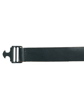 Image 4 ofASOS BLACK x Puma Painted Edge Leather Belt