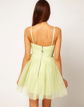 Image 2 ofLipsy VIP Soft Skater Dress With Embellished Waist