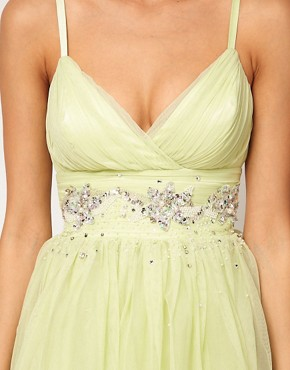 Image 3 ofLipsy VIP Soft Skater Dress With Embellished Waist