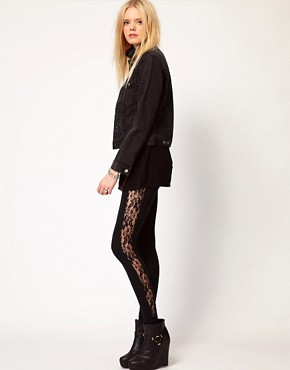 Image 1 ofLnA Lace Detail Leggings