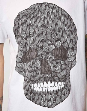 Image 3 ofPublic Gallery Hairy Skull T-Shirt