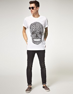 Image 4 ofPublic Gallery Hairy Skull T-Shirt