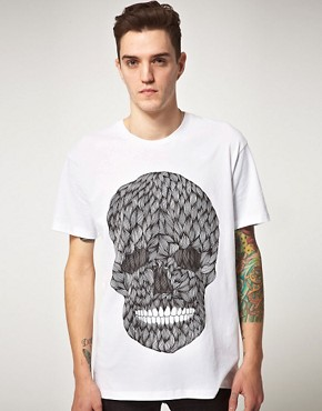 Image 1 ofPublic Gallery Hairy Skull T-Shirt