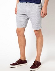 Selected  Shorts mit feinen Streifen