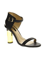Senso Sasha I Black Perspex Heeled Sandals