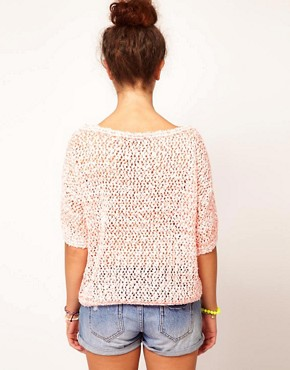 Image 2 of River Island Neon Mesh Jumper