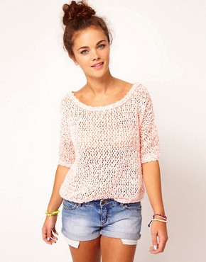 Image 1 of River Island Neon Mesh Jumper