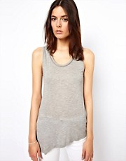 Vanessa Bruno Ath Jersey Tank with Faggoting Detail at Neck