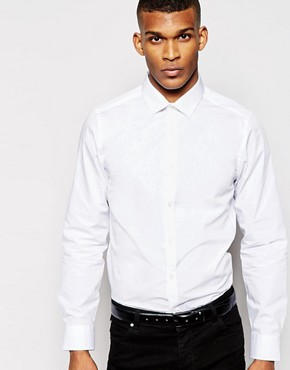 River Island White Poplin Shirt