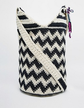 Hiptipico Knitted Across Body Bag in Black