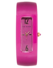 Ted Baker Rectangular Face Resin Strap Watch