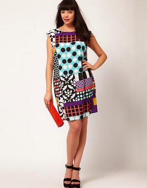 Image 4 ofASOS Curve Dress In Rocco Print