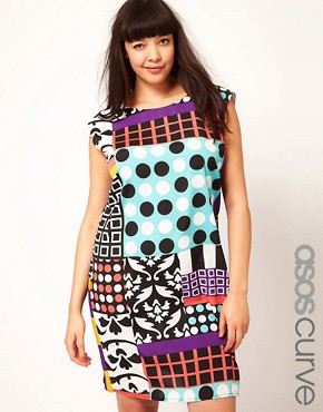 Image 1 ofASOS Curve Dress In Rocco Print