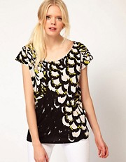 Sass And Bide The Terrazzo Tee In Feather Print