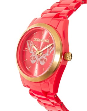 Image 4 ofZadig &amp; Voltaire Red Butterfly Watch