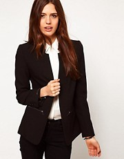 ASOS Blazer With Zip Pocket Detail
