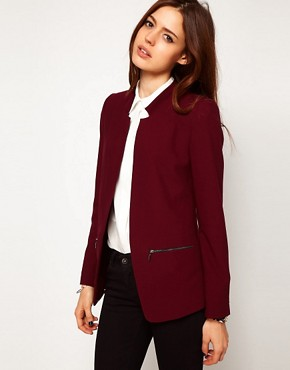 Image 1 ofASOS Blazer With Zip Pocket Detail