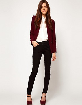 Image 4 ofASOS Blazer With Zip Pocket Detail