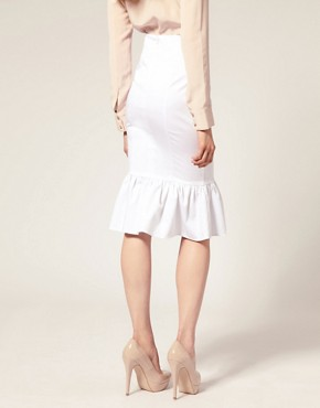 Image 2 ofASOS Ruffle Hem Pencil Skirt