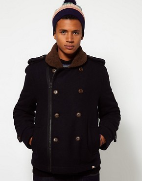 Image 1 ofBellfield Borg Collar Coat