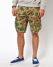 United Colors Of Benetton Cargo Floral Shorts