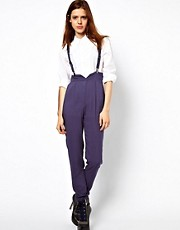 ASOS High Waisted Pants With Braces