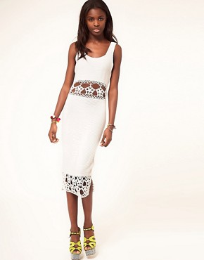 Image 1 ofASOS Crochet Village Midi Dress