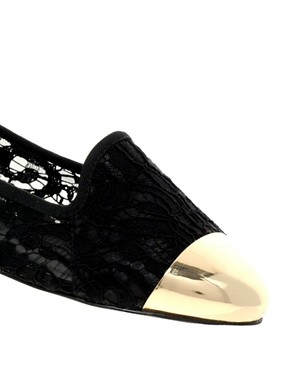 Image 2 ofASOS LIMIT Slipper Shoes With Metal Toe Cap
