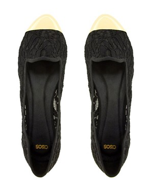 Image 3 ofASOS LIMIT Slipper Shoes With Metal Toe Cap