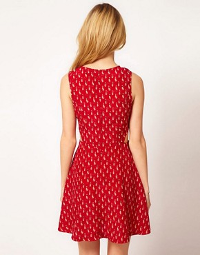 Image 2 ofAX Paris Dress In Cat Print
