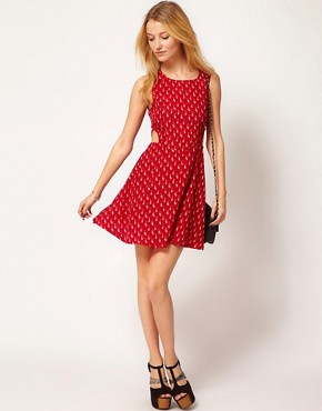 Image 4 ofAX Paris Dress In Cat Print