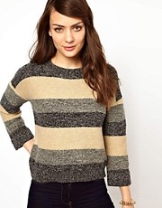 NW3 Stripe Boxy Knitted Jumper
